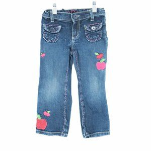 Baby Gap toddler jeans with flowers straight leg